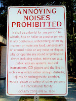 annoying noises sign
