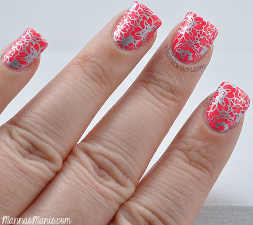 Zoya ali with nail stamping nail art