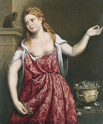 Paris Bordone - Portrait of a young woman