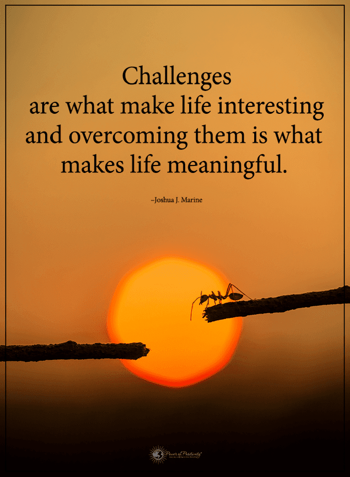 Quotes Challenges Are What Make Life Interesting And Overcoming Them