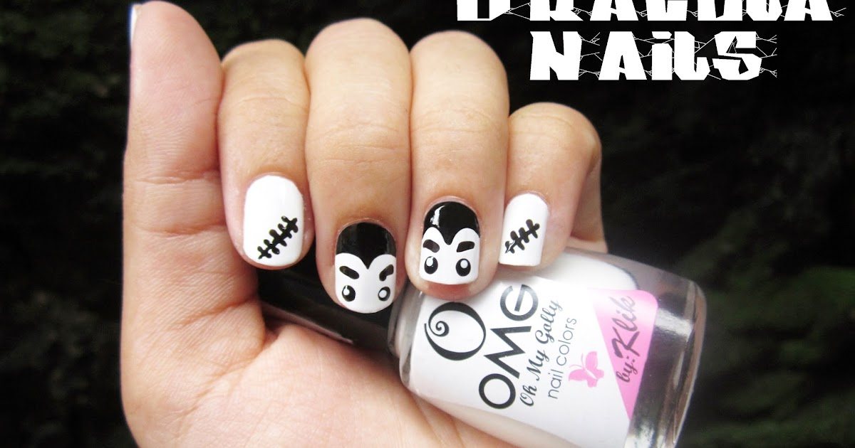 Blow a Rainbow: Halloween 2013: Dracula + Stitch Nails