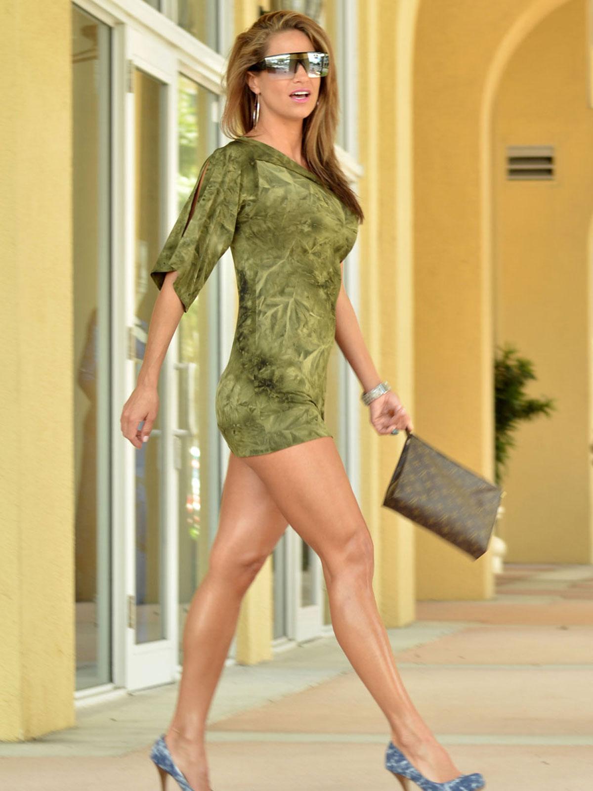 Jennifer Nichole Lee shows of her long legs in Leggy Candids