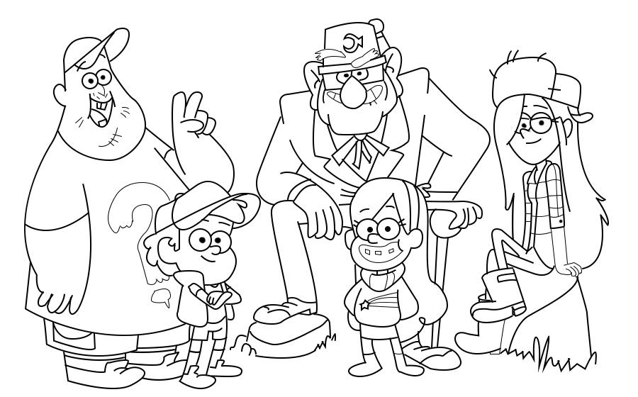 Зачарованный мир: Раскраски с персонажами мультфильма ...