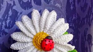Flor Margarita al crochet - paso a paso en video