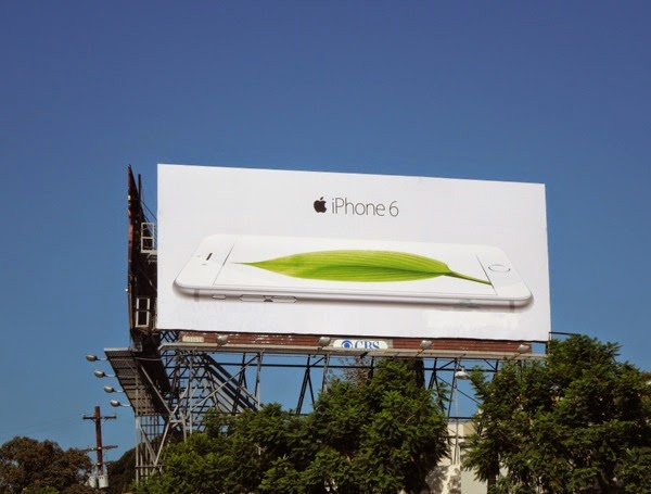 Apple iPhone 6 leaf billboard
