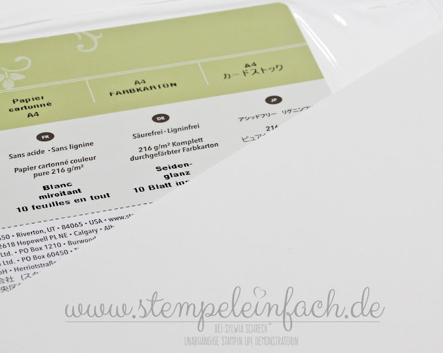 Papiergrammaturen-Stampin Up