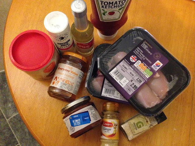 Korean fried chicken with ketchup recipe ingredients
