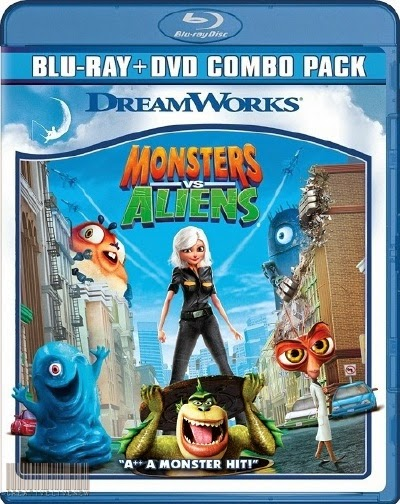 Monsters vs Aliens 2009 Daul Audio BRRip 480p 150Mb HEVC x265