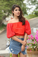 Rhea Chakraborty in Red Crop Top and Denim Shorts Spicy Pics ~  Exclusive 090.JPG