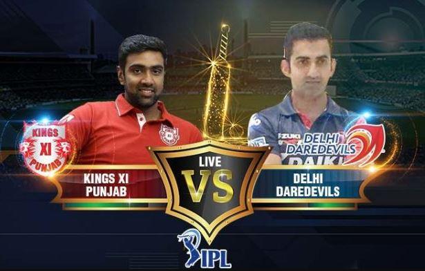 Kings XI Punjab vs Delhi Daredevils live stream IPL 2018