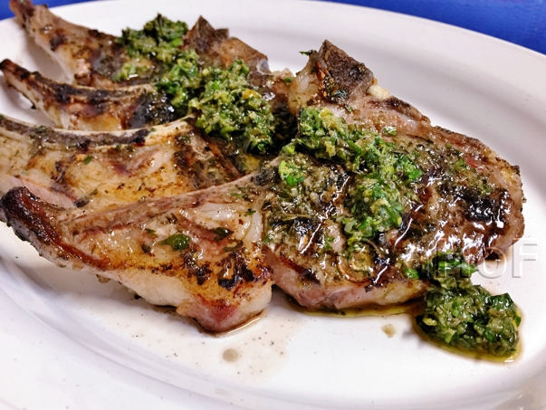 Grilled Lamb Chops with Herbed Marinade & Sauce