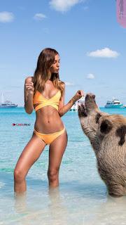 Carmella Rose sexy fresh bikini model for ONEONE Swimwear Summer 2017 WOW Ass Boobs