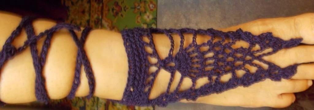 free crochet barefoot sandal pattern