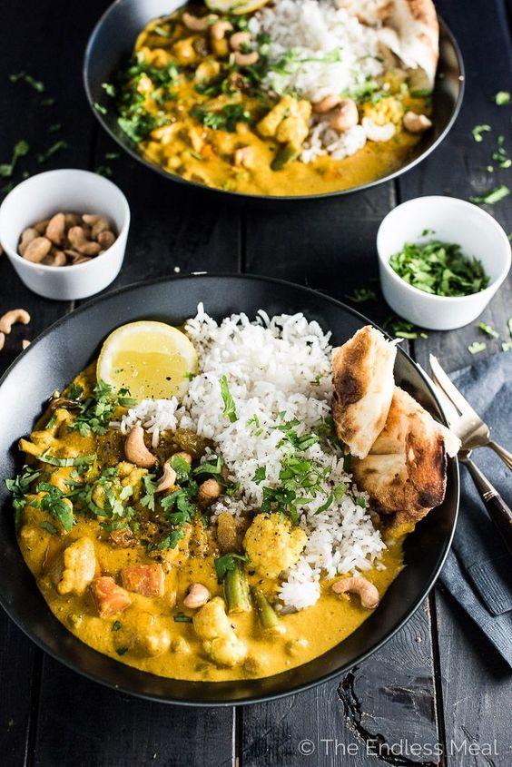 CREAMY COCONUT VEGETARIAN KORMA #creamy #coconut #vegetarian #vegetarianrecipes #korma #soup #souprecipes