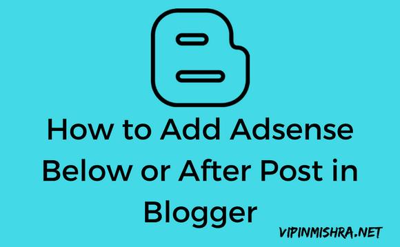 Add Adsense below post title blogger