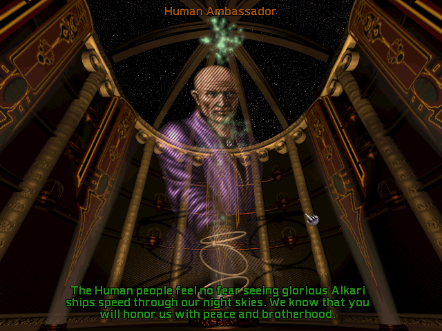 Screenshot of the Human Ambassador from Master of Orion II