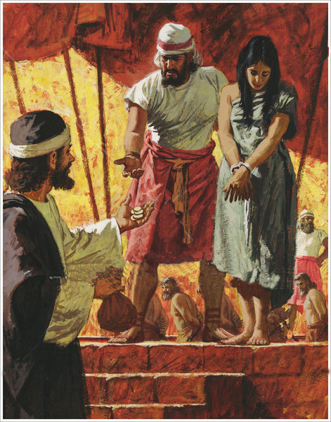 God tells Hosea to redeem, to buy back Gomer and re-establish his marital bonds with her.