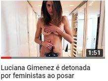Luciana Gimenez é detonada por feministas ao posar pelada na web e rebate
