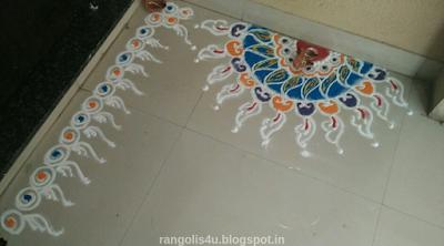 Welcome door step Rangolis