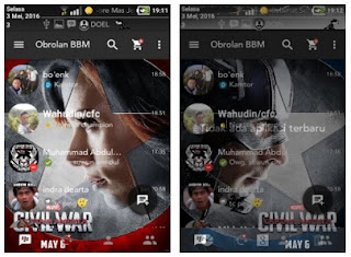 BBM MOD Civil War versi 2.13.1.13 for Android