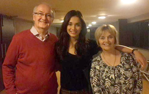 Amy Jackson Family Photo