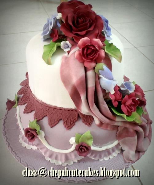 Wedding Cake Class: Kajang: Class Wedding Cake Fondant And