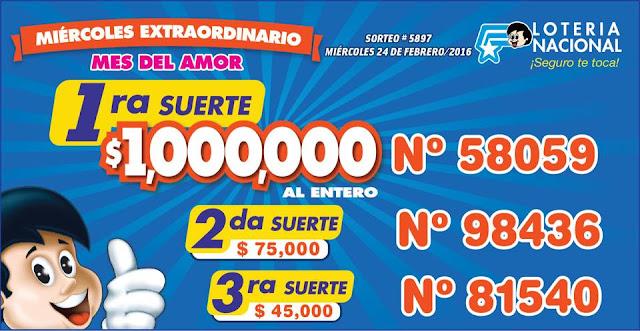 resultados loteria nacional sorteo 5897