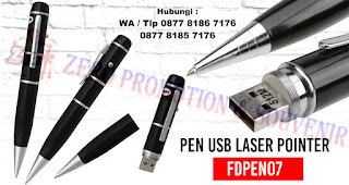 Pen Usb Laser Pointer – FDPEN07, USB/ Flashdisk + Pen + Laser Pointer Promosi / Souvenir / Hadiah / Gift / MerchandiseUSB / Flashdisk + Ballpoint / Pen + Laser Pointer.