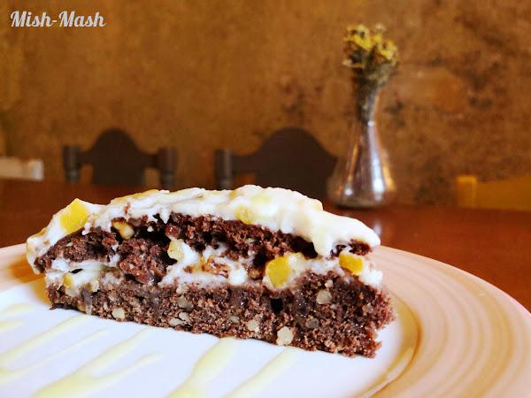 Шоколадова торта с крем от праскови