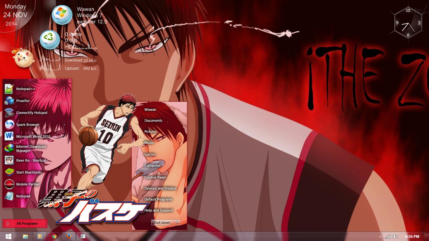 Google themes kuroko no basket - Windows 7 Theme Taiga Kagami Kuroko No Basket