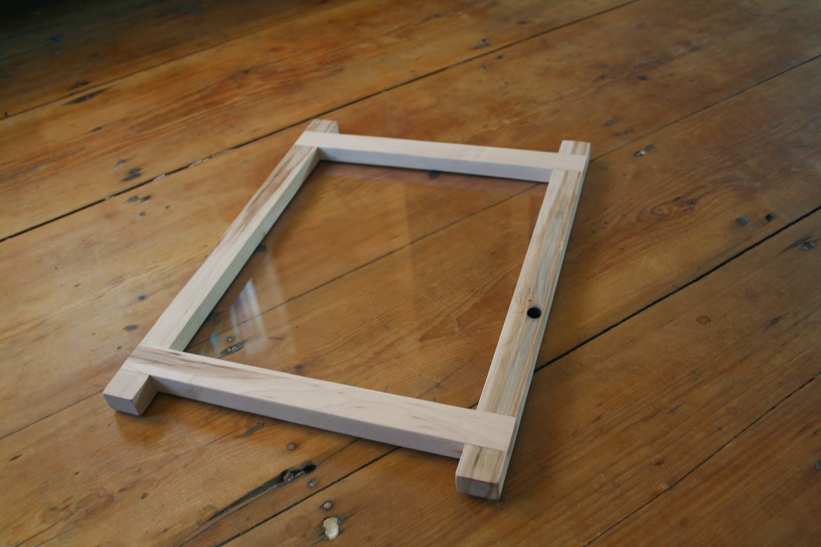 Sugar maple picture frames vaughan woodworks this one was made with the same tapped maple stock as my dining room table top the frame features lap joints at each corner for sale 120 jeuxipadfo Image collections