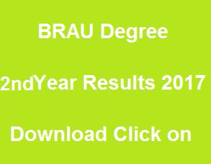 manabadi brau degree 2nd year results 2017