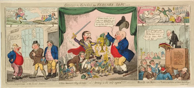 Cruickshank Odds & Ends for February 1816 - Nancy Storace and John Braham caricature