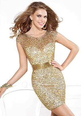 Sparkle Sheath Cap Sleeve Bateau Open Back Sequins Mini Cocktail Dress