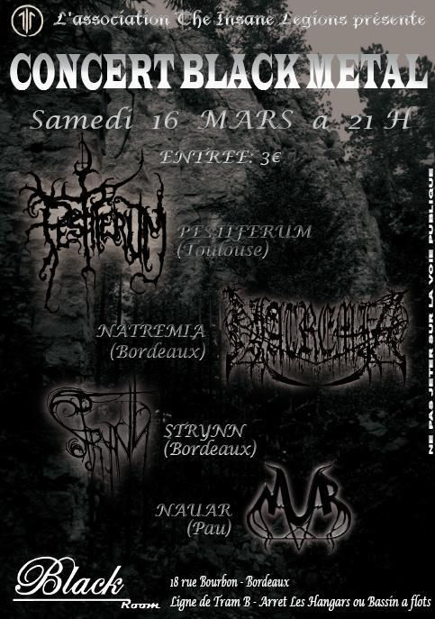 Pestiferum / Natremia / Strynn / Nauar @ Black Room, Bordeaux 16/03/2013