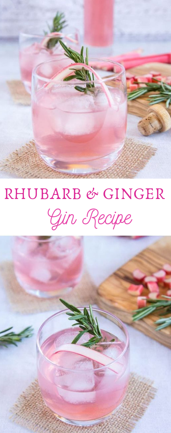 RHUBARB AND GINGER GIN RECIPE #healthydrink #recipe