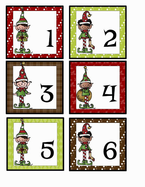 elf calendar cards