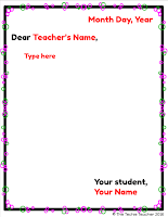 Friendly Letter template in Google Slides