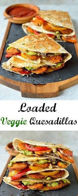 Loaded Veggie Quesadillas