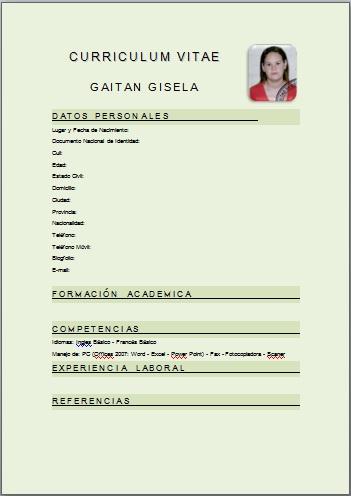 Blogfolio De Gisela Gaitan Curriculum Vitae
