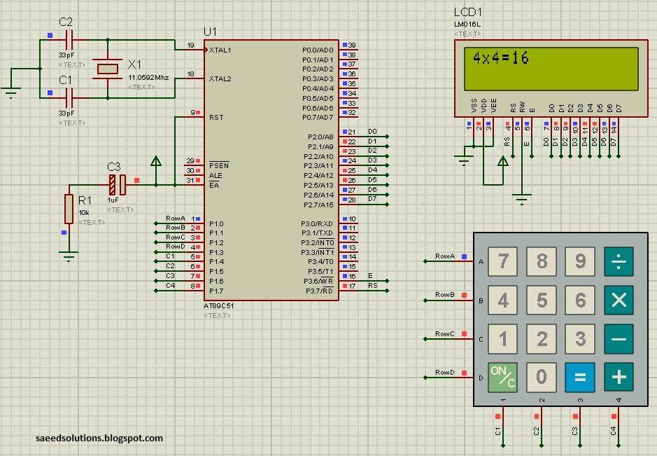 8051 simple calculator c code proteus simulation. Black Bedroom Furniture Sets. Home Design Ideas