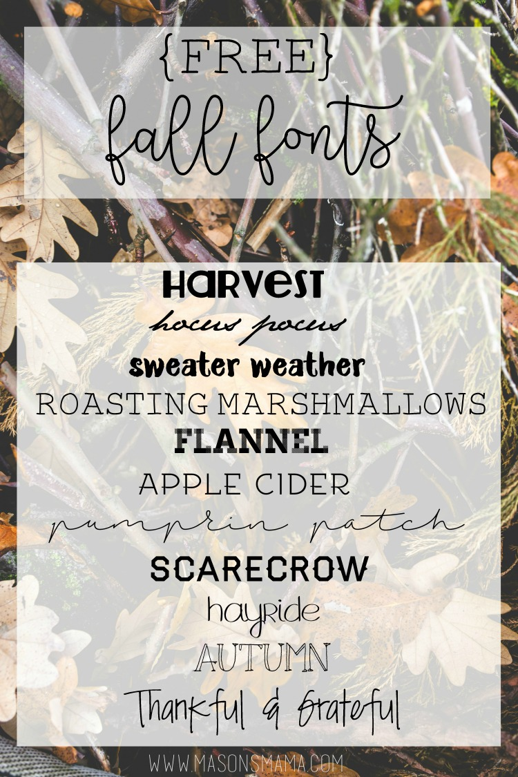 Hall Around Texas Free Fonts for Fall