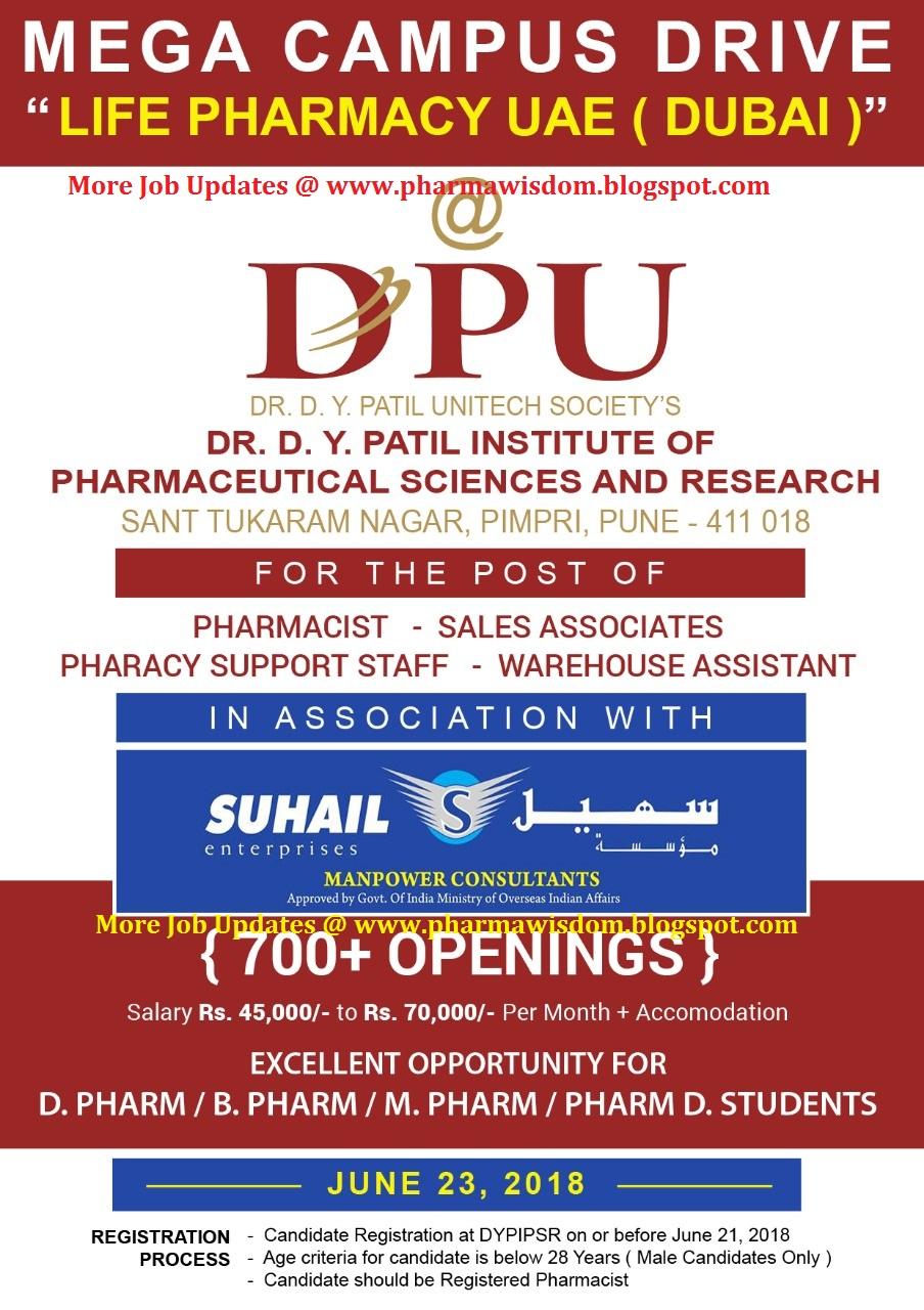 LIFE PHARMACY UAE (DUBAI) - Mega Campus Drive for B Pharm