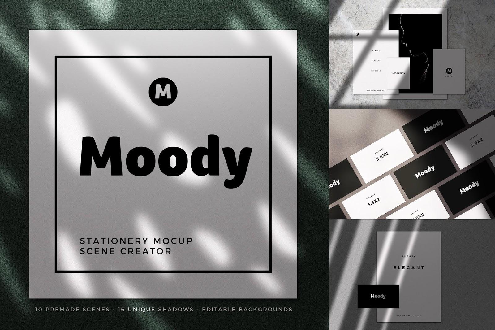 Moody Stationery Premium Mockup