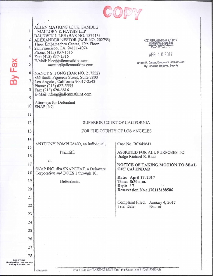 Snapchat Lawsuit