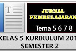 Jurnal Guru Mengajar Kelas 5 Kurikulum 2013 Semester 2 Revisi Tahun ini
