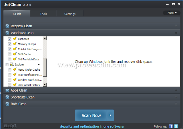 تحميل وتثبيت وشرح برنامج JetClean لتسريع الويندوز وحل مشاكله