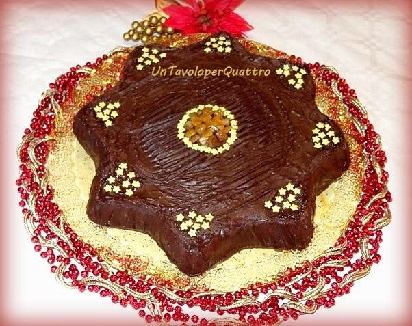Torta A Forma Di Stella Di Natale.Torta Di Natale Stella Di Pan Speziato Ricoperta Di Cioccolato