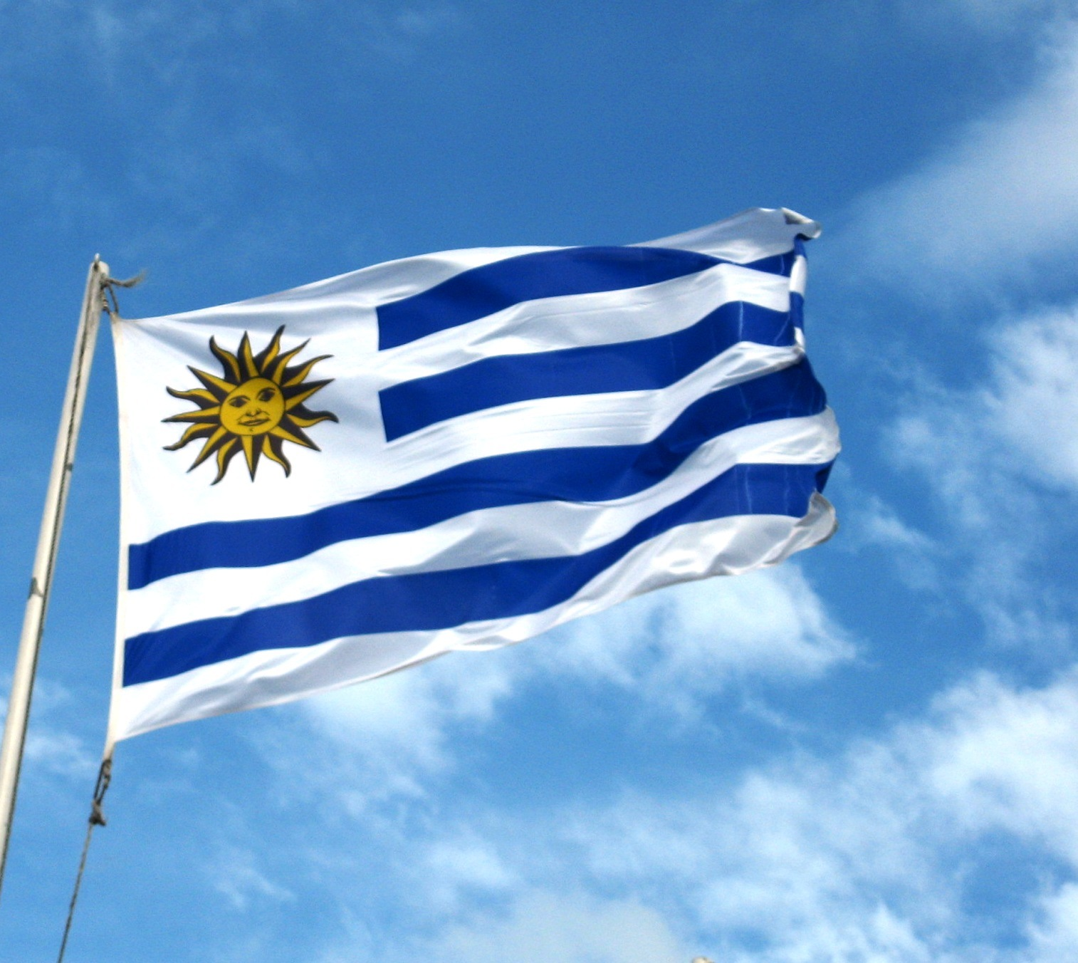 Uruguay Flag Pic...M Alphabet Wallpaper