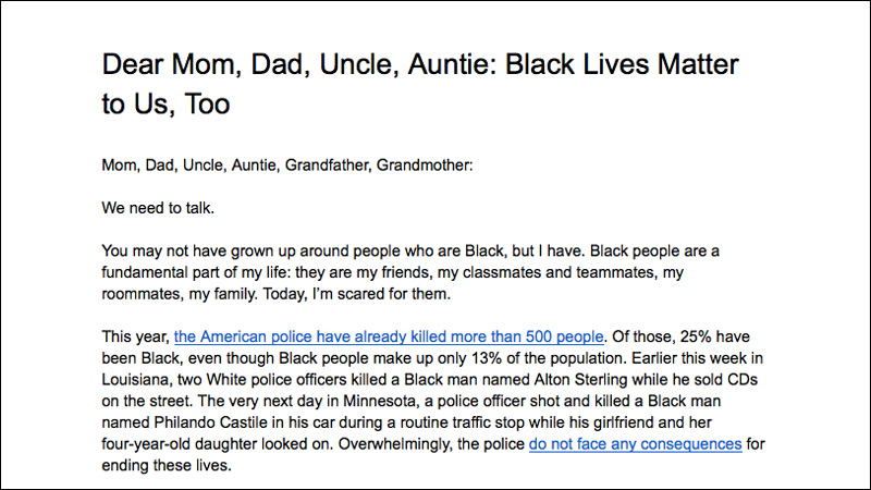 An Open Letter to Our Asian American Families About Black Lives Matter